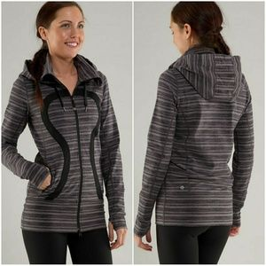 Lululemon Stride Jacket Black Stripes Galore 2
